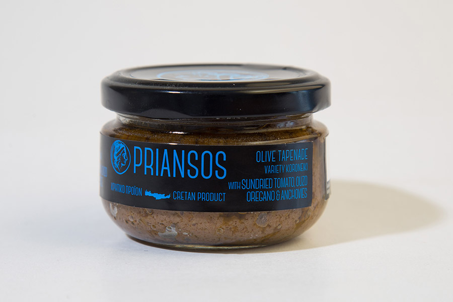 Olive Tapenade WITH SUNDRIED TOMATO, ΟUΖΟ OREGANO & ANCHOVIES